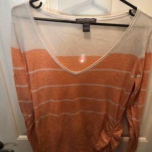 Peach and cream light weight sweater